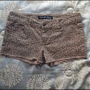 5for$20 Celebrity Pink Leopard Print Cutoff Shorts